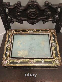 Victorian Mother Of Pearl Lap Desk Stunning Estate Find
