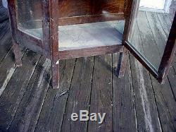 Victorian Oak Corner China cabinet unusual rare find Pa. Estate furniture
