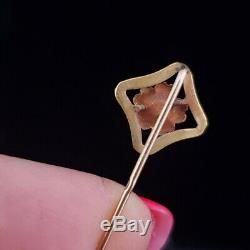 Victorian Seed Pearl 14k Yellow Gold Stick Pin Antique Vintage Estate Floral