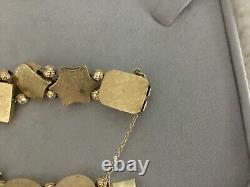 Vintage 14 K Gold Slide Bracelet Moonstone Snake Big Victorian Style 7