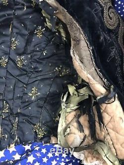 Vintage Antique Beaded Velvet Jacket Victorian New Orleans Estate