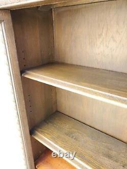 Vtg American Solid Tiger Oak Barley Twist Bookcase Display China Cabinet LA Area