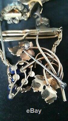 Vtg Antique Art Deco Victorian GF & SS Brooch/locket/Pin/Cufflink NICE Lot of 13